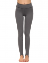 Dark gray Slim High Waist Breathable Elastic Yoga Pants