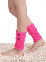 Short Textured Leg Warmer Crochet Knit Boot Topper Cuff Socks