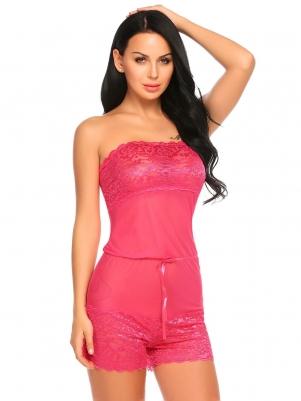 5062504853 Rose red One Sheer Nightwear