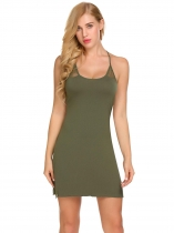 Green Babydoll Chemise Nightwear with G-String Women Sexy Lingerie