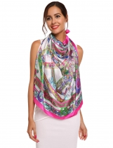 Imitation Silk Large Satin Square Soft Feeling Scarf