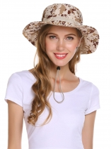 Internal Drawstring Camouflage Round Wide Sun Hats