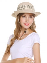 Summer Drawstring Bunch Round Wide Sun Hats