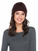 Woolen Knit Comfort Warm Plaids Hat
