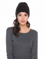 Mode féminine Casual Automne Hiver Acrylique Chaud Chunky Soft Stretch Knit Twist Comfort Hat