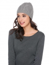 Acrylic Warm Chunky Soft Stretch Knit Twist Comfort Hat
