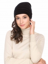Unisex Frauen Männer Mode Casual Herbst Winter Acryl Warm Chunky Soft Stretch Knit Comfort Hat
