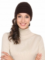 Acrylic Warm Chunky Soft Stretch Knit Comfort Hat