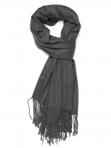 Dark gray Women Fashion Soft Blanket Tassel Solid Fringed Oversized Wraps Scarf