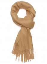 Khaki Women Fashion Soft Blanket Tassel Solid Fringed Oversized Wraps Scarf