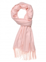 Pink Women Fashion Soft Blanket Tassel Solid Fringed Oversized Wraps Scarf