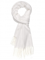 White Women Fashion Soft Blanket Tassel Solid Fringed Oversized Wraps Scarf