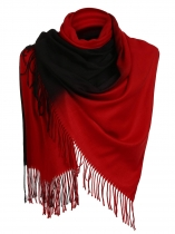 Black Women Soft Blanket Tassel Gradient Color Fringed Oversized Wraps Scarf