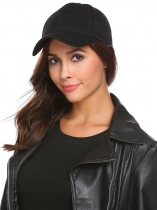 Black 2 Women Fashion Foldable Adjustable Cotton Corduroy Baseball Hat