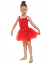 Red New Kids Girl Elegant Dance Ballet Bodysuit Dresses