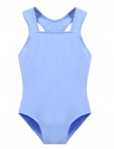 Girls' Gym Dance Spaghetti Strap One Piece Leotard