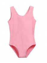 Child Girl O-Neck Sans manches Solid Cross Strap Dace Dance Leotard