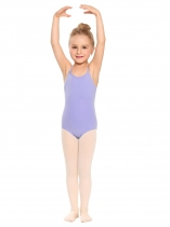 Purple Girls' Spaghetti Strap Back Cross Strap Solid Dance Leotard