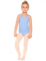 Sky blue Girls' Gym Dance Back Rhombus Harness Solid Leotard