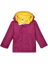 Rose red Solid Hooded Windbreaker Waterproof Rain Outwear
