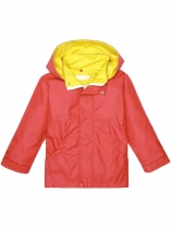 Melancia vermelha Red Kids Solid Hoodbre Windbreaker Waterproof Rain Jackets Outwear