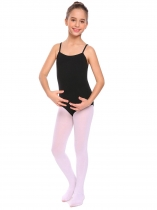 Black Girls Gymnastics O-Neck Straps Back Solid Ballet Dance Bodysuit Camisole Leotard