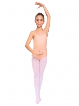 Light pink Filles Gymnastique O Neck Straps Retour Ballet de Danse Solid Body Camisole Justaucorps