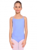 Blue Girls Gymnastics Camisole Leotard Criss Cross Back Ballet Bodysuit