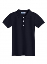 Navy blue Kids Boy Short Sleeve Solid Classic Polo Shirts