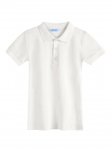 White Kids Boy Short Sleeve Solid Classic Polo Shirts