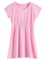 Pink New Kids Girl Short Sleeve Dot Cute Dress Fancy