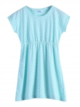 Bleu ciel New Kids Girl manches courtes Dot Cute Dress Déguisements