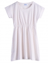 White New Kids Girl Short Sleeve Dot Cute Dress Fancy