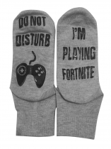 Grey I'm Playing Fortnite Socks