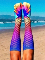 Orange MERMAID KNEE HIGH SOCKS