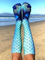 Dark blue MERMAID KNEE HIGH SOCKS