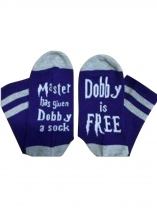 Purple Dobby Is Free Color Block Socks