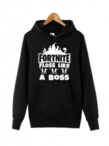 Red Fortnite Floss A Boss Hoodie