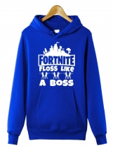 Blue Fortnite Floss Comme Un Boss Sweat À Capuche