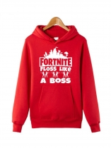 Red Fortnite Floss Like A Boss Hoodie