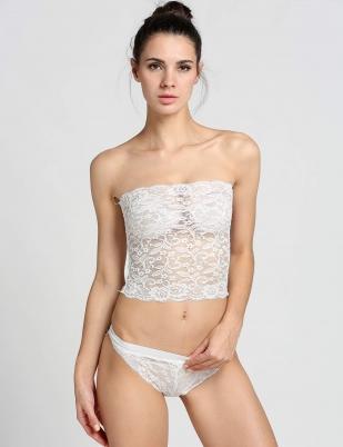 White Sexy Lace Lingerie Tube Tops Brief Underwear Set 1cb0b8f77