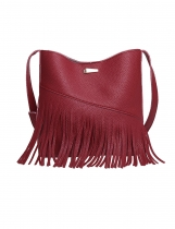 Tassel Detail PU Crossbody Tasche mit Clutch Bag
