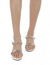 Peep Toe Clear Wedge Sandals