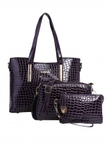 Crocodile Print Emballage Sac à bandoulière main 3pcs Bag Set