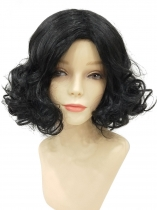 Women Ladies Fashion Curly Black Short Hair Full Wig