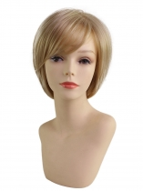 Women Ladies Bob Pixie Boycut Wispy Straight Blonde Boycuts Short Hair Full Wig