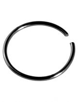 Stainless Steel Fake Piercing Nose Ring Hoop