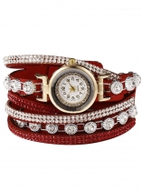 Fashion Decor Round Rhinestone Bracelet Watch