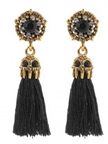 Women Fashion Retro Vintage Style Tassel Fringe Ear Stud Earrings