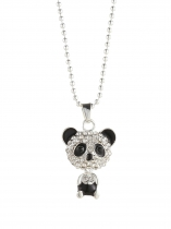 Panda Shape Charm Chain Pendant Jewelry Necklace